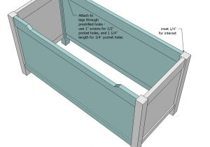 Toy Box Plans Home Depot Ana White Simple Modern toy Box with Lid Diy Projects