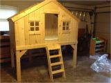 Tree House Bunk Bed Plans Ana White Clubhouse Treehouse Bed Diy Projects