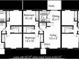 Triplex Home Plans Triplex House Plans One Story Triplex House Plans T 409