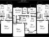 Triplex Home Plans Triplex House Plans Triplex House Plans with Garage D 437