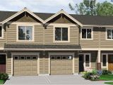 Triplex Home Plans Triplex House Plans Triplex Plan with Garage 20 Ft Wide