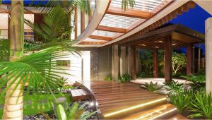 Tropical Home Design Plans the Idea Of Unique Tropical Style House House Style Design