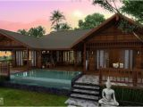 Tropical Home Plans Tropical Houses Water Color island Tierra Este 39442