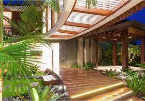 Tropical Homes Plans the Idea Of Unique Tropical Style House House Style Design