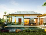 Tropical island Home Plans Exterior Tropical Homes Design with Relaxing Ambiance