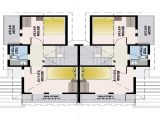Twin Home Plans Twin Home Floor Plans with Basements Twin Home Floor Plans