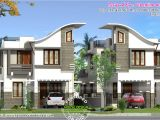 Twin Home Plans Twin House Design Kerala Home Design and Floor Plans