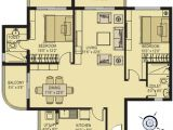 Two Bhk Home Plans Presidency Viva 2 and 3 Bedroom Flats Apartments