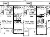 Two Family Home Plans Multi Family House Plans Multi Plex Home Floor Plans at