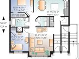 Two Family Home Plans Multi Family Plan 64883 at Familyhomeplans Com
