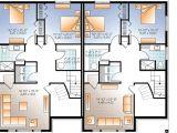 Two Family Home Plans Sleek Modern Multi Family House Plan 22330dr Cad