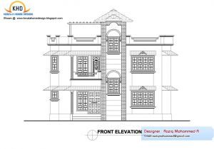 Two Floor House Plans and Elevation Home Plan Elevation Kerala Design Floor Plans House