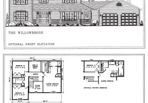 Two Floor House Plans and Elevation Model Homes Floor Plans Marion Il New Horizons Homes Inc