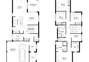 Two Floor House Plans and Elevation Wonderful Double Storey 4 Bedroom House Designs Perth Apg