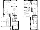 Two Story Home Floor Plans Two Storey House Design and Floor Plan