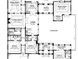 U Shaped Home Plans with Courtyard U Shaped House Plans with Courtyard House Plans On U