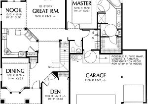 Universal Design Home Plans Universal Design Plan with Great Room 69337am