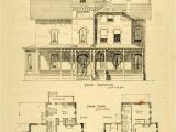 Victorian Homes Plans 1873 Print House Home Architectural Design Floor Plans