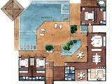 Villa Home Plans Resort Style Residential Floor Plans Floor Plans