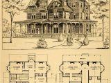 Vintage Home Floor Plans 1879 Print Victorian House Architectural Design Floor