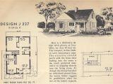 Vintage Home Plans Vintage House Plans J237