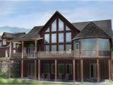 Walkout Home Plans Open House Plan with 3 Car Garage Appalachia Mountain Ii