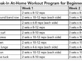 Weight Lifting Plan for Beginners at Home Strength Training for Fat Loss Break In Workout Programs