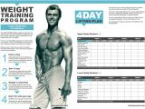 Weight Lifting Plan for Beginners at Home Weight Training Program 4 Day Lifting Plan for Beginners