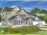 Western Style Home Plans 4 Bedroom Western Style House Kerala Home Design and
