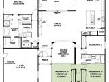 Woodside Homes Floor Plans Residence Four Model 4 Bedroom 2 5 Bath New Home In