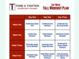 Work Out Plan at Home Free 6 Week Fall Workout Plan tone and Tighten