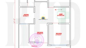 Www Indian Home Design Plan Com north Indian Style Flat Roof House with Floor Plan
